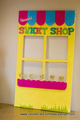 we could make this prop for a photo shop and take pictures of the girls in the window with candy such as BIG lollipops!