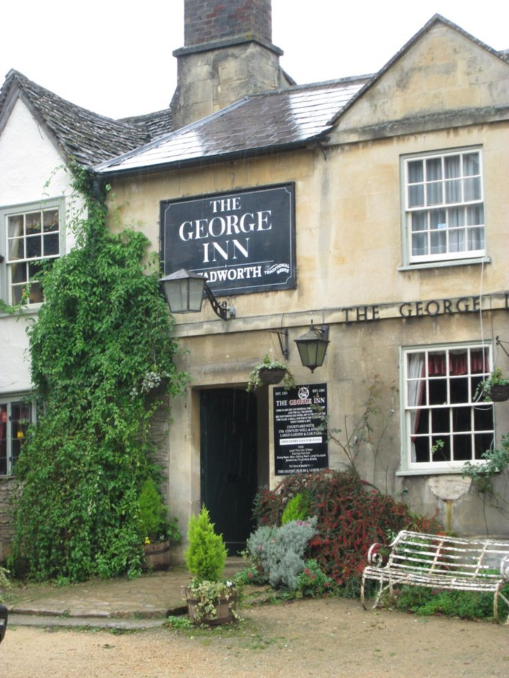 The George Inn, Lacock, Wiltshire, South West England, UK - a quaint old pub with good food.
