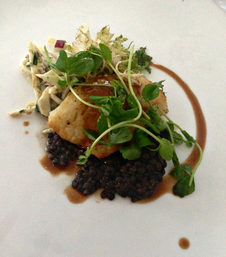 Chicago Restaurant Week: Atlantic Cod with lentils and celery root remoulade at Naha.