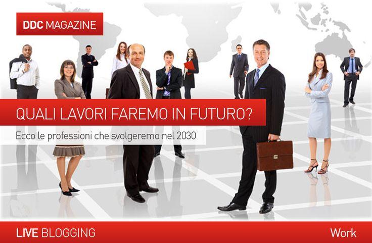 """LIVE BLOGGING- #WORK  QUALI LAVORI FAREMO IN FUTURO? Il mercato del #lavoro  tra vent'anni.  Dal """"personal trainer dell' #orto """" all' """"avatar manager"""" che disegna #ologrammi ... scopri quali saranno le nuove professioni che ci aspettano nel 2030.  http://www.danieladicosmoadv.it/blog/?p=5468"""