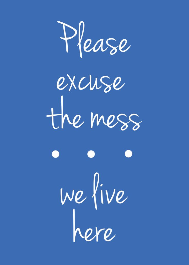 New to SerendipityCreate on Etsy: Please excuse the mess...we live here. Digital Download. (2.00 GBP)