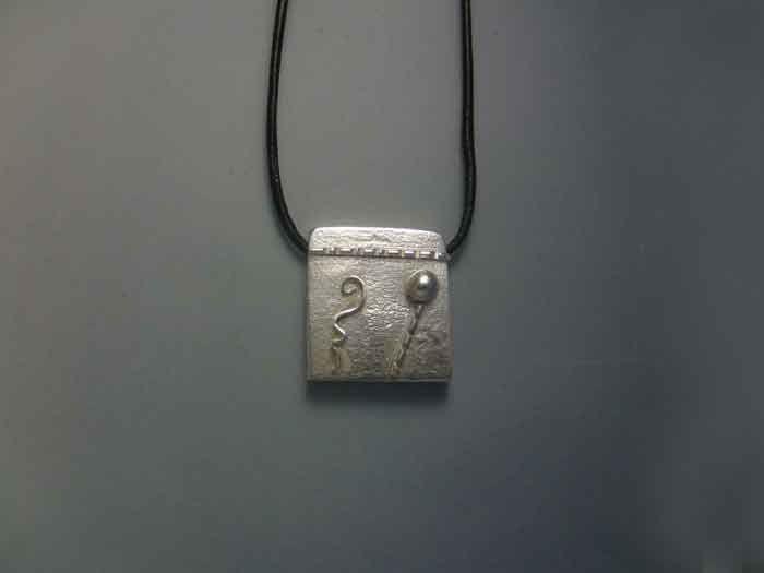 mayan kin seal earth kaban sterling silver 925 pendant necklace colgante sello maya tierra plata de ley amuleto zodiacal by Algaba on Etsy