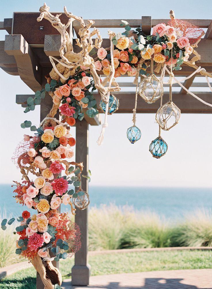 Photography: Caroline Tran    Event Planning: Carolyn Chen   Floral Design: Inviting Occasion   Venue: Terranea Resort   Rentals: Archive Vintage Rentals & Signature Rentals