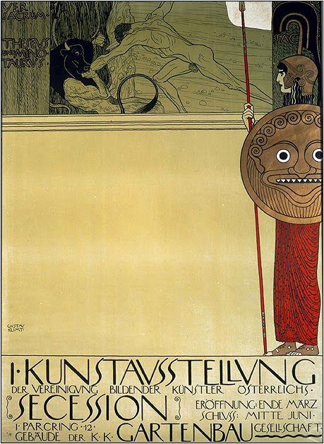 Густав Климт. Плакат первой выставки объединения «Сецессион». 1898 год.