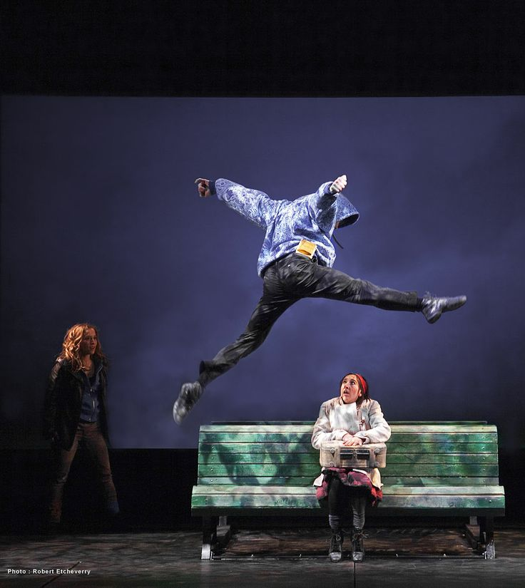 """""""Director Yves Simard has set up some ambitious choreography, this young and energetic company more than delivers. The movement in this piece is spectacular..."""" Mike Anderson - Mooney on Theatre (Photo credit: Robert Etcheverry)"""