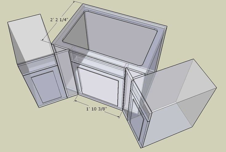 Corner Cabinet Conundrum | Corner sink kitchen, Corner ...