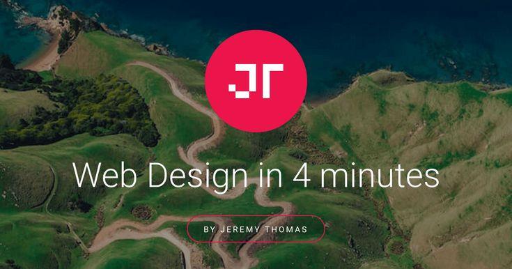 Aprenda o básico do web design em 4 minutos com esse tutorial  interativo.