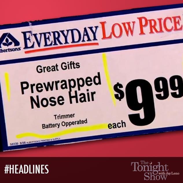 Prewrapped? How fancy! #Headlines