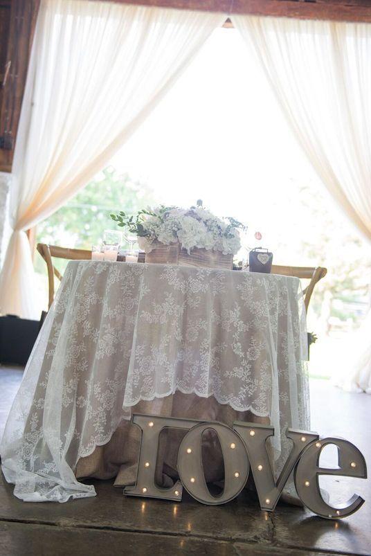 Sweetheart Head Table Rustic Wedding Decor                                                                                                                                                                                 More