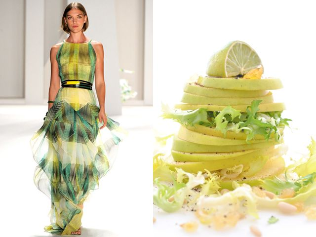 Carolina Herrera ss 2012 / Waldorf salad made my way