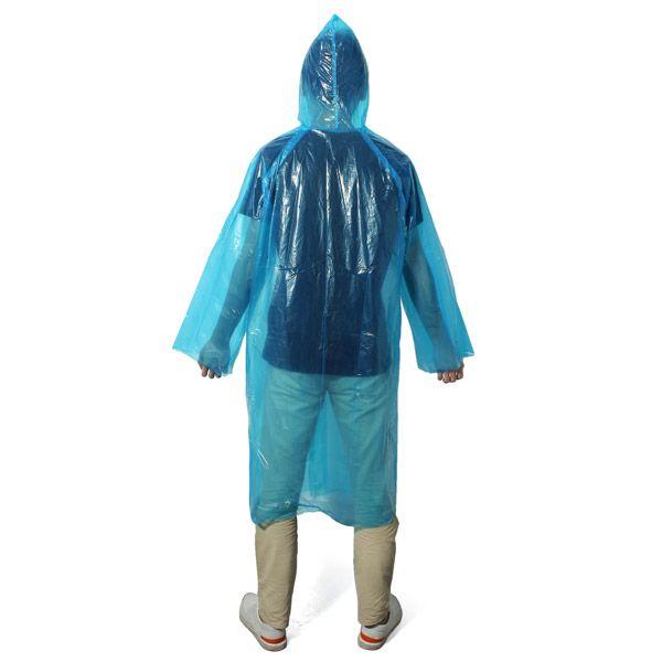 Outdoor Fieldwork Travel Raincoat Suit Disposable Plastic Rain Poncho Rainwear Rainproof Cover