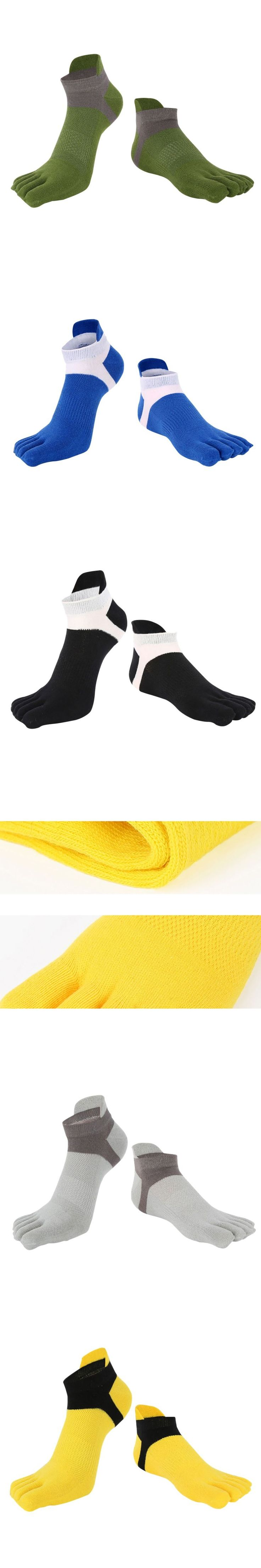 Men's Casual Five Finger Toe Cotton Socks Deportes Short Tube Mesh Finger Meias Polyester Sock Correr Elasticity Sock LM58