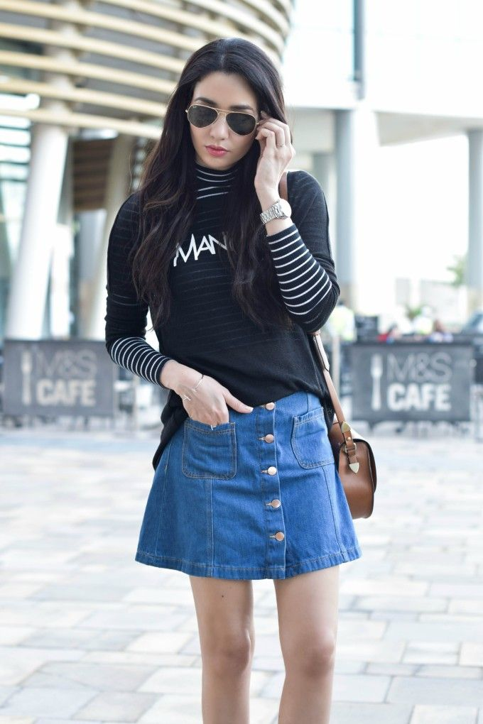 awesome Длинные и короткие джинсовые юбки (50 фото) — Модные тенденции 2017