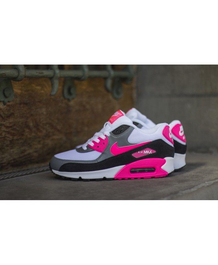 Nike Air Max 90 Essential Rose Blanche Noir Gris
