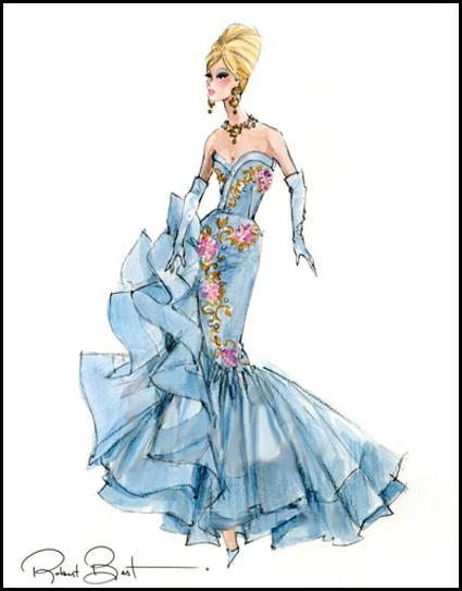 Barbie A Fashion Fairytale Dresses Sketches 27 best Barbie Sketche...
