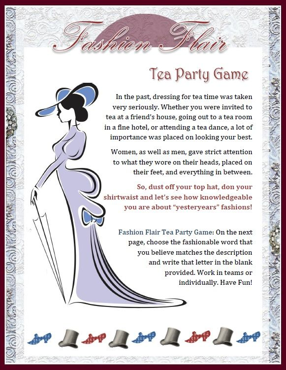 Tea Party Games