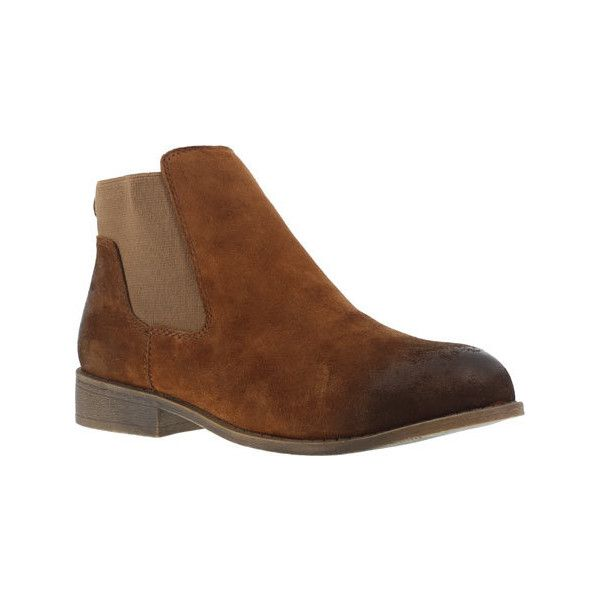 Women's Rockport Works Junction View RK800 Steel Toe Chelsea Boot... ($100) ❤ liked on Polyvore featuring shoes, boots, brown, chelsea bootie, steel toe safety shoes, ankle boots, brown ankle boots and brown bootie boots