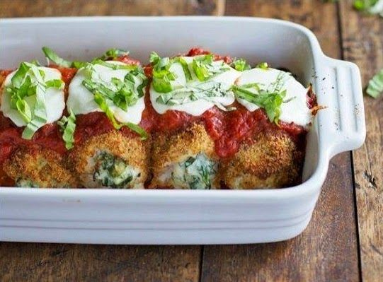 KoloDIY Food: Куриные рулеты со шпинатом и моцареллой