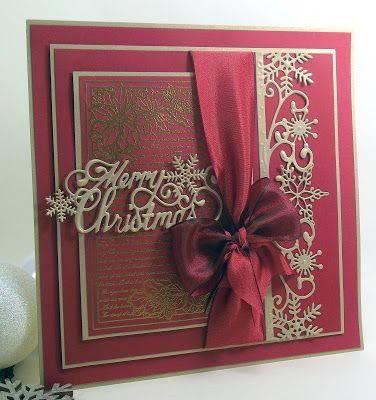 John Next Door: Christmas Bling... Merry Christmas die, Snowflake Corner Border Tag