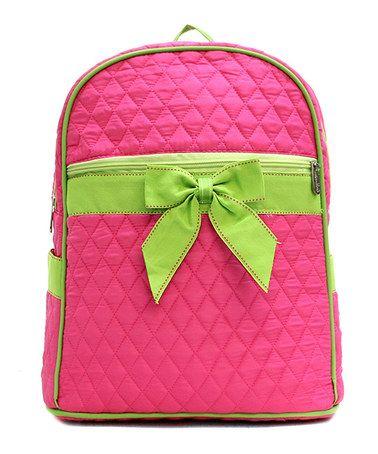 Fuchsia & Lime Lexi Backpack by RosenBlue #zulily #zulilyfinds