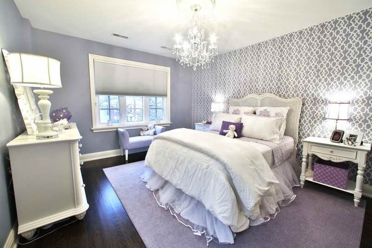 decorating with purple | Teenage Girl Room Decorating Ideas With Purple Carpet