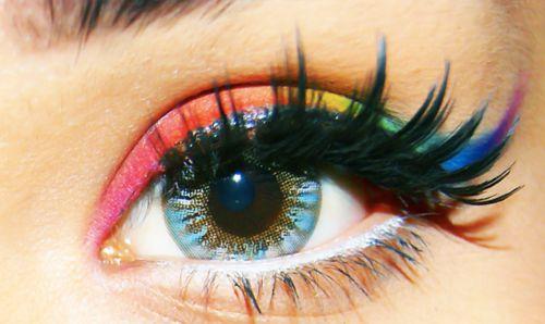 eyeshadow: Rainbow Eye Makeup, Rainbows Eye Makeup, Eye Shadows, Rainbows Color, Rainbows Eyeshadows, Makeup Ideas, Eyemakeup, Eye Liner, Beautiful Eye