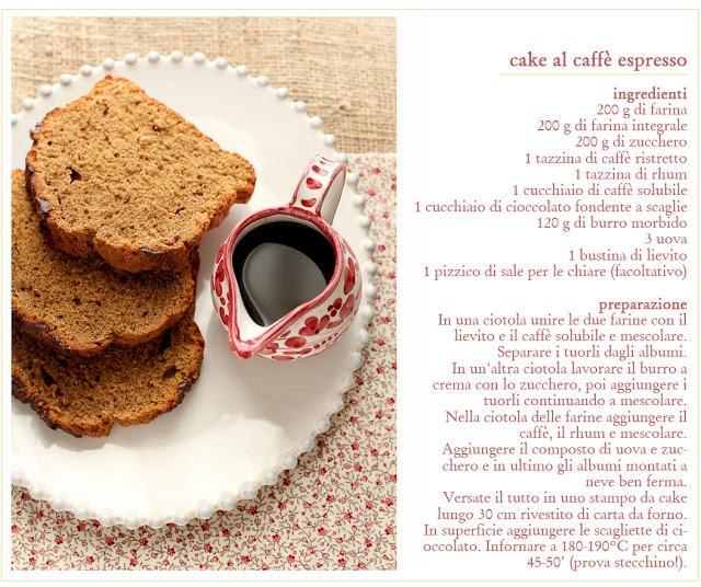- VANIGLIA - storie di cucina: cake al caffè espresso per il lunedì mattina...