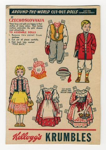 Czechosolvakia_Kellog's Paper Dolls; 40s