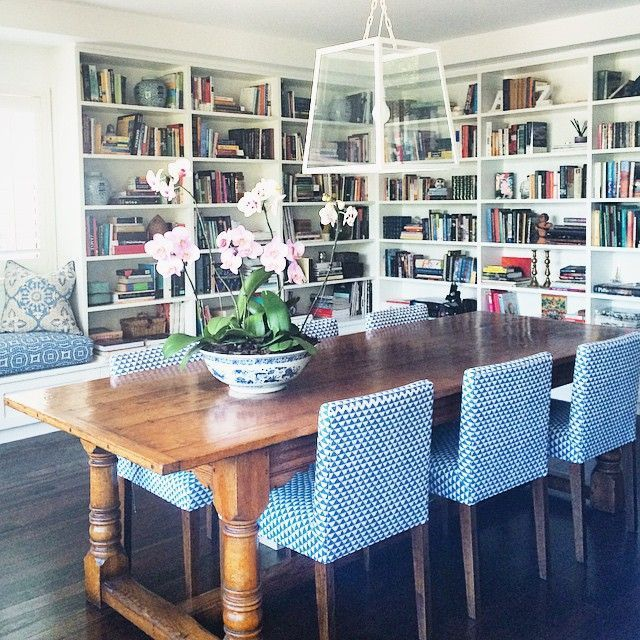 I could get a wood table and use the white chairs that i have