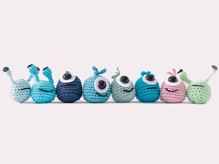 Tutoriales DIY: Cómo hacer monstruitos de colores a ganchillo vía DaWanda.com