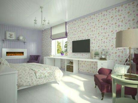 Вариант шкафов + рабочее место (по совместительству - туалетный столик) под окнами