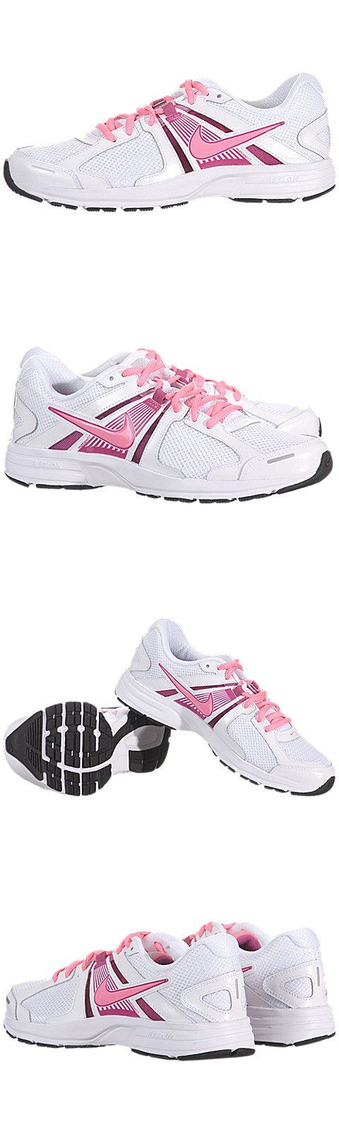 Nike Dart 10 White/Pink Ladies Running Shoes - Nike Women's Dart 10 Running I just got these ^_^