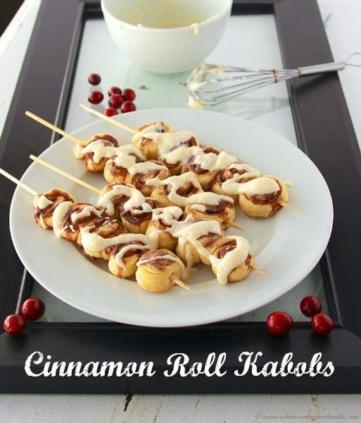 Mini Cinnamon Roll Kabobs Recipe | Bakerette.com