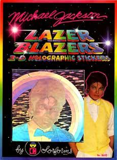 """Michael Jackson 3-D Holographic Stickers. You know I had them. I stuck them proudly in my glorious """"sticker book""""."""