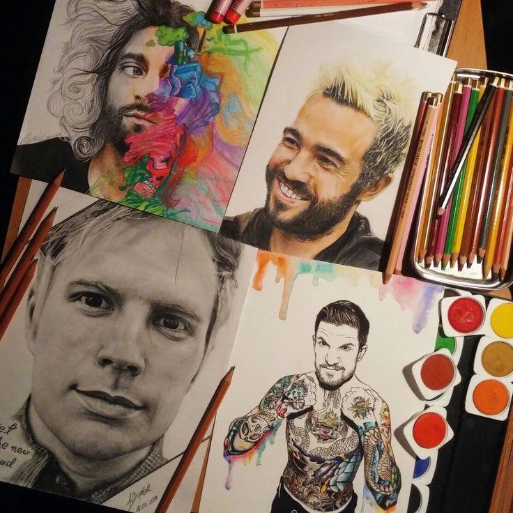 Fall Out Boy fanarts ig: @eenterprisee   God I need to learn how to draw like this