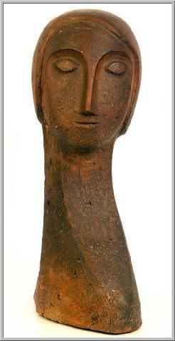 Mario Tozzi: 1969 Visage de Femme. Scultura in Terracotta cm.27x45 - Collezione Privata Roma - Archivio numero 2425.