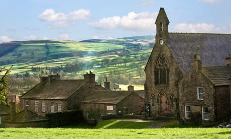 Reeth in Swaledale North Yorkshire England UK                                                                                                                                                                                 もっと見る