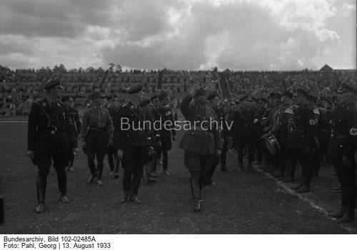 Der große SS-Schutz-Staffel-Appell am 13. August 1933 im Stadion in Berlin-Grunewald, in welchem über 10000 SS-Männer angetreten waren !