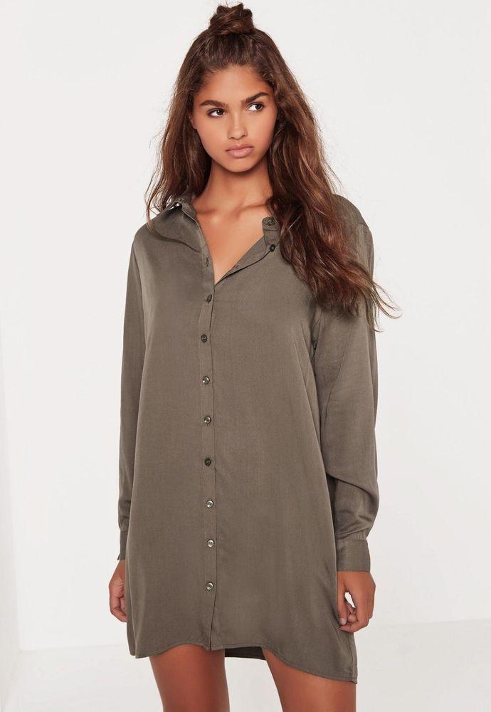564f39624d2 Missguided OVERSIZED Shirt Dress Size 6 BNWT Khaki Uk Freepost  fashion   clothing  shoes  accessories  womensclothing  dresses (ebay link)
