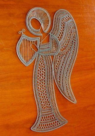 reliéf drôtený Anjel s lýrou - Imrová Janette