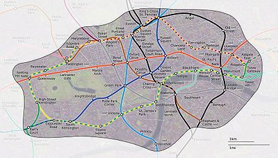 London Underground Zone 1 Map