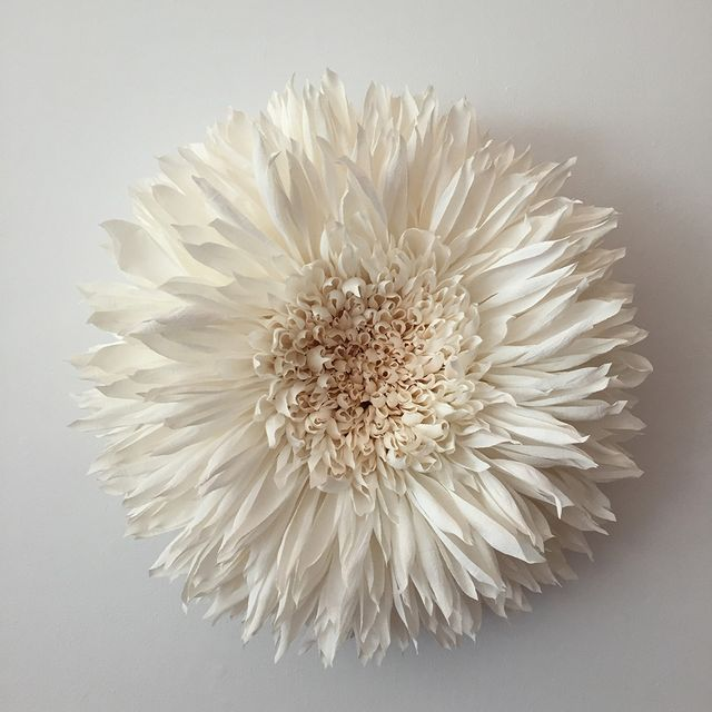 All images provided by Tiffanie Turner  Tiffanie Turner (previously) individually cuts thousands of segments of paper to piece together her often 5-foot-wide flower compositions, works that can take u