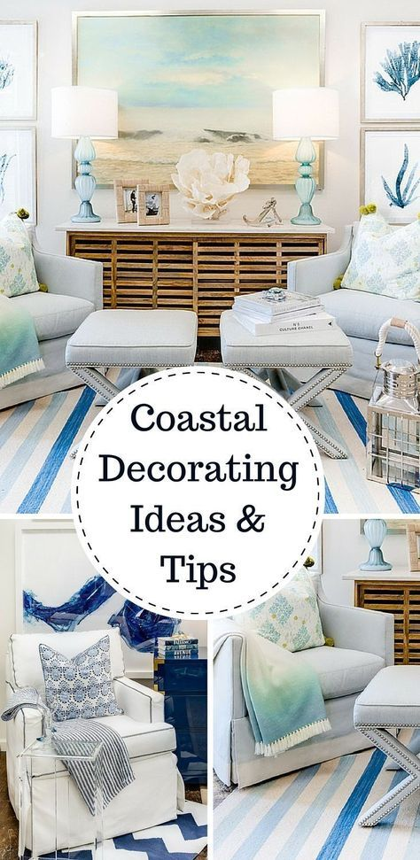 Tips & tricks - Home decorating ideas - Coastal style. There is something serene and satisfying about a room or space that is inspired by nature, especially when it echoes a coastal theme. Try these beach house decorating ideas in your own home to transform it into the seaside cottage of your dreams.