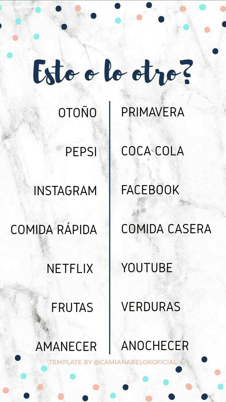 Pin De Ana María Iglesias En Insta Quien Me Conoce Mejor Cuestionario Para Amigos Retos Para Instagram