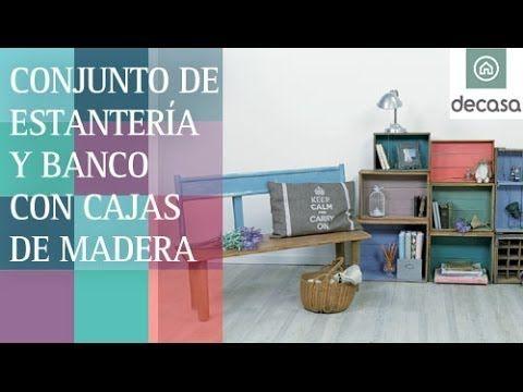 Tutorial para construir un conjunto de banco y estantería con cajas de madera ¡SUSCRÍBETE a nuestro canal! http://bit.ly/1fj9Ljh En el episodio 10 de Con mat...