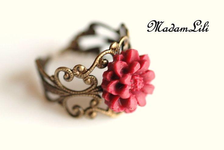 """Pierścionek vintage """"Letnie uczucia"""" w MadamLili ♥  Radość życia do noszenia ♥  na DaWanda.com"""