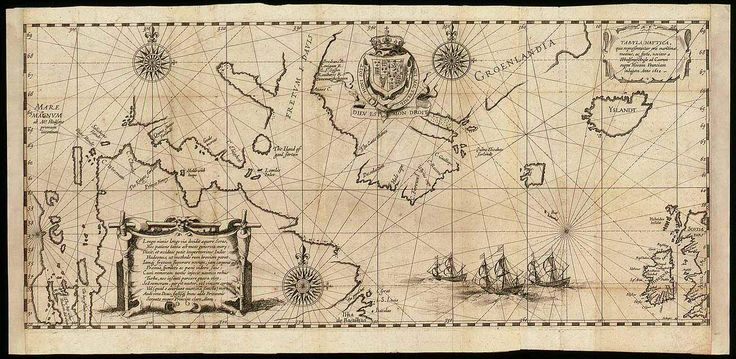Hessel Gerritsz's Tabula Nautica (1612). This map is historic not just because it is the first to show the Hudson Bay, but there is a story of tragedy and death behind it. #henryhudson