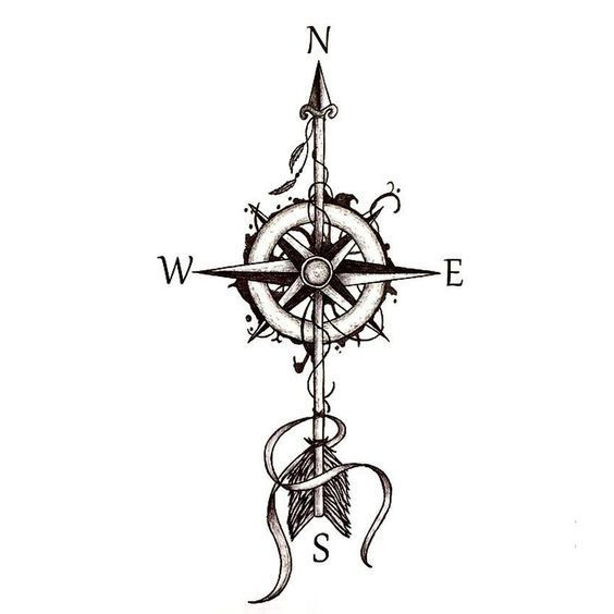 Wanderlust Compass Arrow Temporary Tattoo Projects to try