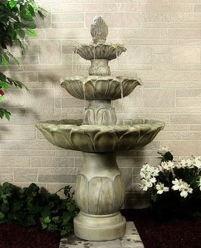 Classic Tulip 3 Tier Fountain asian outdoor fountains