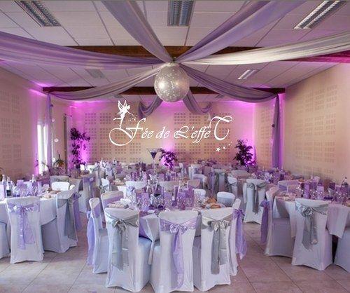 Location décoration de table mariage - Décoration mariage violet et boules…